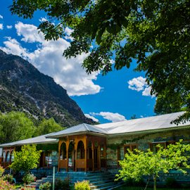 Home in Kalash Valley by Aamir Munir - Buildings & Architecture Homes ( clouds, pakistan, home, kalash, valley, chitral )