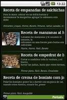 Screenshot of Cocina para hombres - Recetas