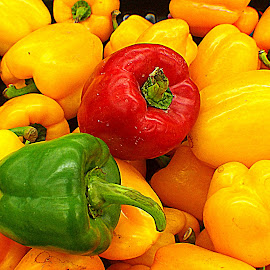 Huge Chillies by Nann Photos - Food & Drink Fruits & Vegetables ( chillies, pepper, chilli, colorful, mood factory, vibrant, happiness, January, moods, emotions, inspiration )