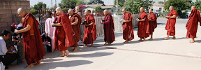 Burmese residents in Los Angeles became monks to honor one year anniversary of Saffron Revolution