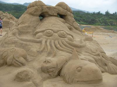 美麗的沙雕