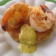 Coconut Prawns With Coriander Mayonnaise