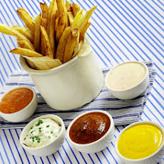 Homemade French Fries with Five Dipping Sauces