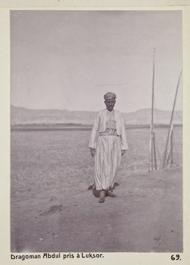A dragoman was a guide and interpreter and was indisposable to the European tourists in Egypt.