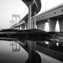 Bridges in puddles by Eloa Defly - Buildings & Architecture Bridges & Suspended Structures ( macao, puddlegram, instagram, aomen, macau, puddle, bridge, china,  )