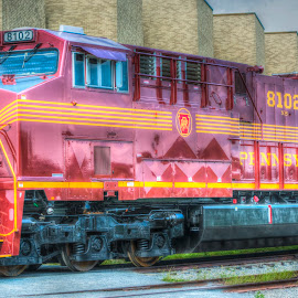 Bold and Bright by Robert England - Transportation Trains