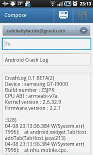 Crash Log (Logcat) - screenshot