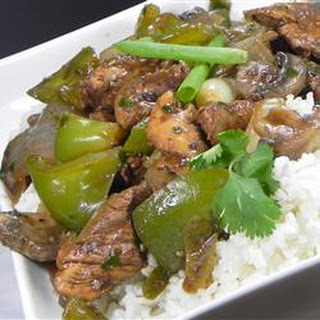 Chicken with Green Peppers in Black Bean Sauce