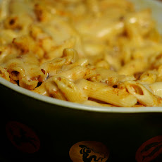 Cheesy Fondue Pasta Bake.