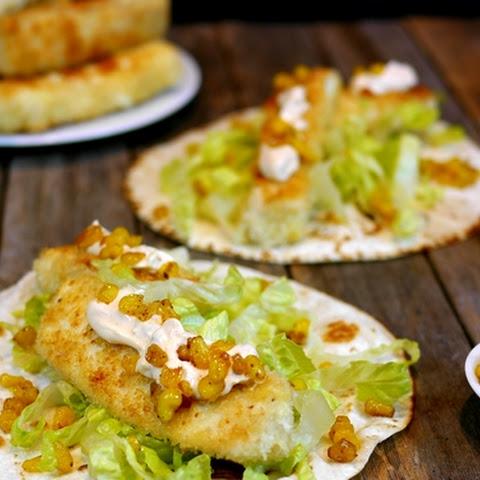 Halibut fish tacos sauce recipes yummly for Halibut fish tacos