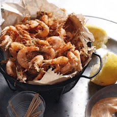 Spiced Shrimp with Paprika Mayonnaise Recipe