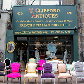 Antiques Shop, Dublin by Lin Nyuk - City,  Street & Park  Markets & Shops ( shop;dublin;antiques;pearse, Urban, City, Lifestyle )
