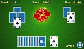 Screenshot of TriPeaks Solitaire Challenge