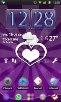 Screenshot of GO Launcher EX Purple Theme