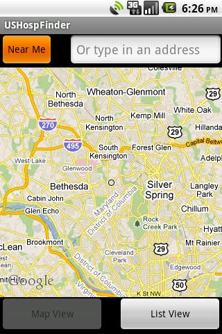 US Hospital Finder Android App