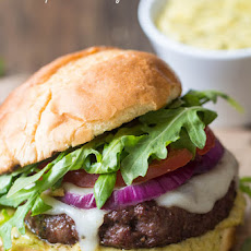 Tuscan Garlic Burgers with Pesto Mayo