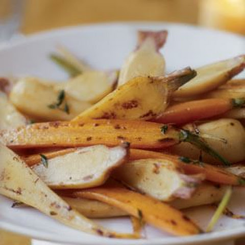 Glazed Parsnips and Carrots with Sherry