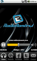 Screenshot of Radio Romanul