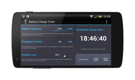 Battery Charge Timer Lite - screenshot
