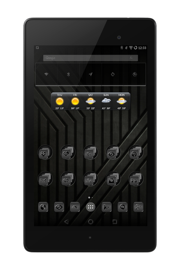 Black Glass Icons Screenshot 7