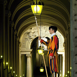 Swiss Guard in Vatican by Marcel Cintalan - Buildings & Architecture Architectural Detail ( lights, swiss, guard, vatican )