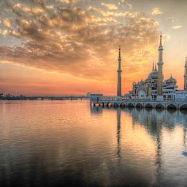 Cystral Mosque Kuala Terengganu MY by Saadkuidam Khan - Landscapes Sunsets & Sunrises
