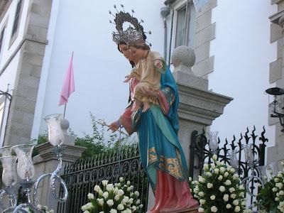 María Auxiliadora a su salida de Los Salesianos el pasado año 2007. Foto: Pozoblanco News