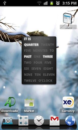 A text clock widget