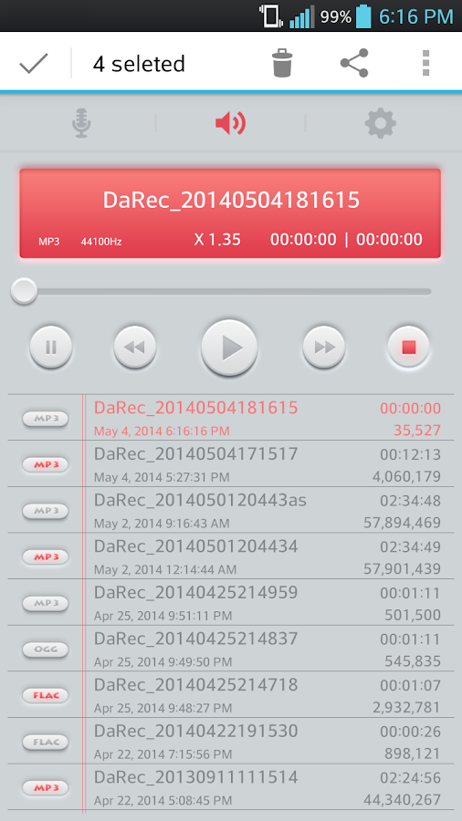 High Quality Voice Recorder Screenshot 3