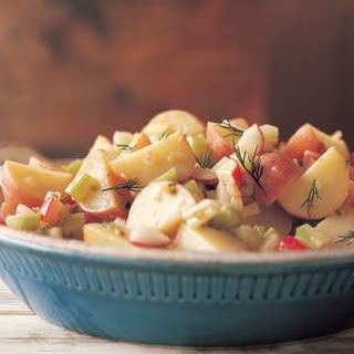 red potato salad with red potatoes radishes creamy potato salad with ...