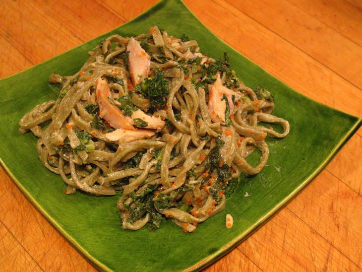 ... Trout Salad with Kale, Edamame and Lemon Sesame Cream Recipe | Yummly