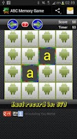 Screenshot of ABC Memory Game