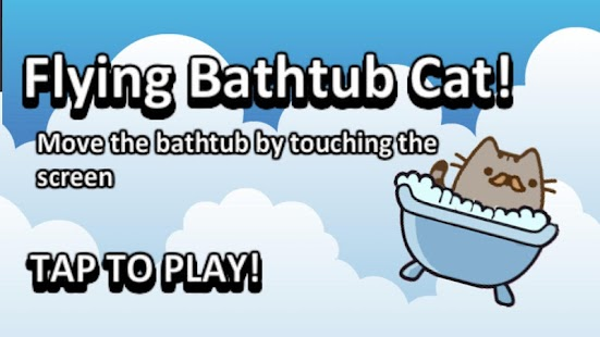 Flying Bathtub Cat - screenshot