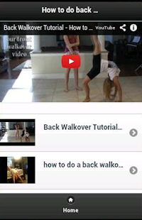 How to do back walkover - screenshot