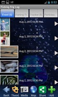Screenshot of Fishing Trip Log