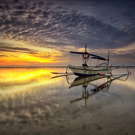 Scaly Clouds by Yudik Pradnyana - Landscapes Cloud Formations ( #landscape #clouds #sunrise #bali #boat )