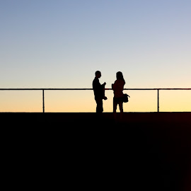 Sunset Silhouettes by Chase Mueller - People Couples