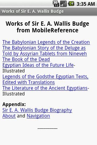 Works of Sir Wallis Budge