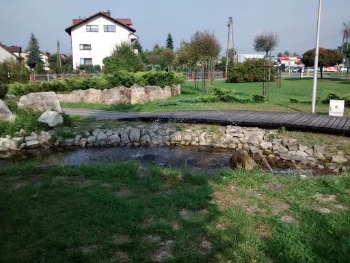 Skwerek z fontannami w Libiążu