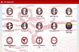 Screenshot of ITF Taekwon-Do Guide