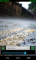 Screenshot of Natural Rain Sounds