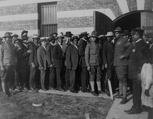 <b>Entry into the war transformed the United States. </b> In urgent mobilization, the Selective Service Act of May 1917 included all males of fighting age, regardless of color or foreign birth.