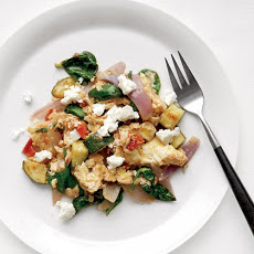 Vegetable Egg Scramble with Feta