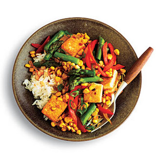 Ginger-Scented Corn and Asparagus Stir-Fry