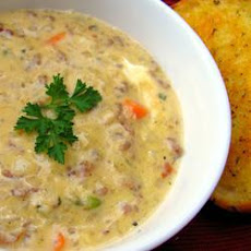 Cheesy Beef and Potato Soup