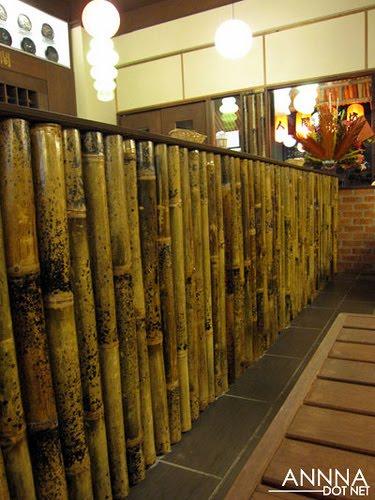 interior decor   bamboo wall dividers life cafe