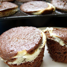 Low-Fat Chocolate Cheesecake Muffins