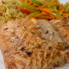 Grilled Lemon-Soy Salmon