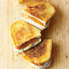Grilled Fresh Mozzarella and Apricot on Sourdough