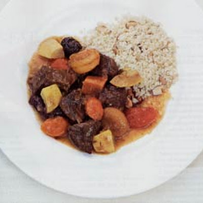 Lamb Tagine with Prunes, Apricots, and Vegetables